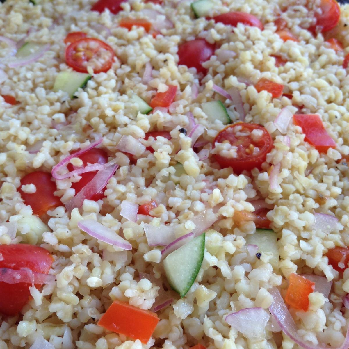 freekeh mediterranean salad cancer diet low glycemic low omega 6
