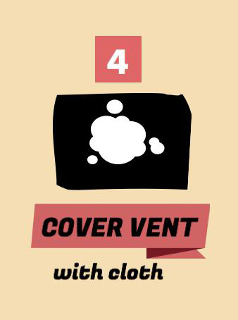 Instant Pot Tip, cover vent with cloth