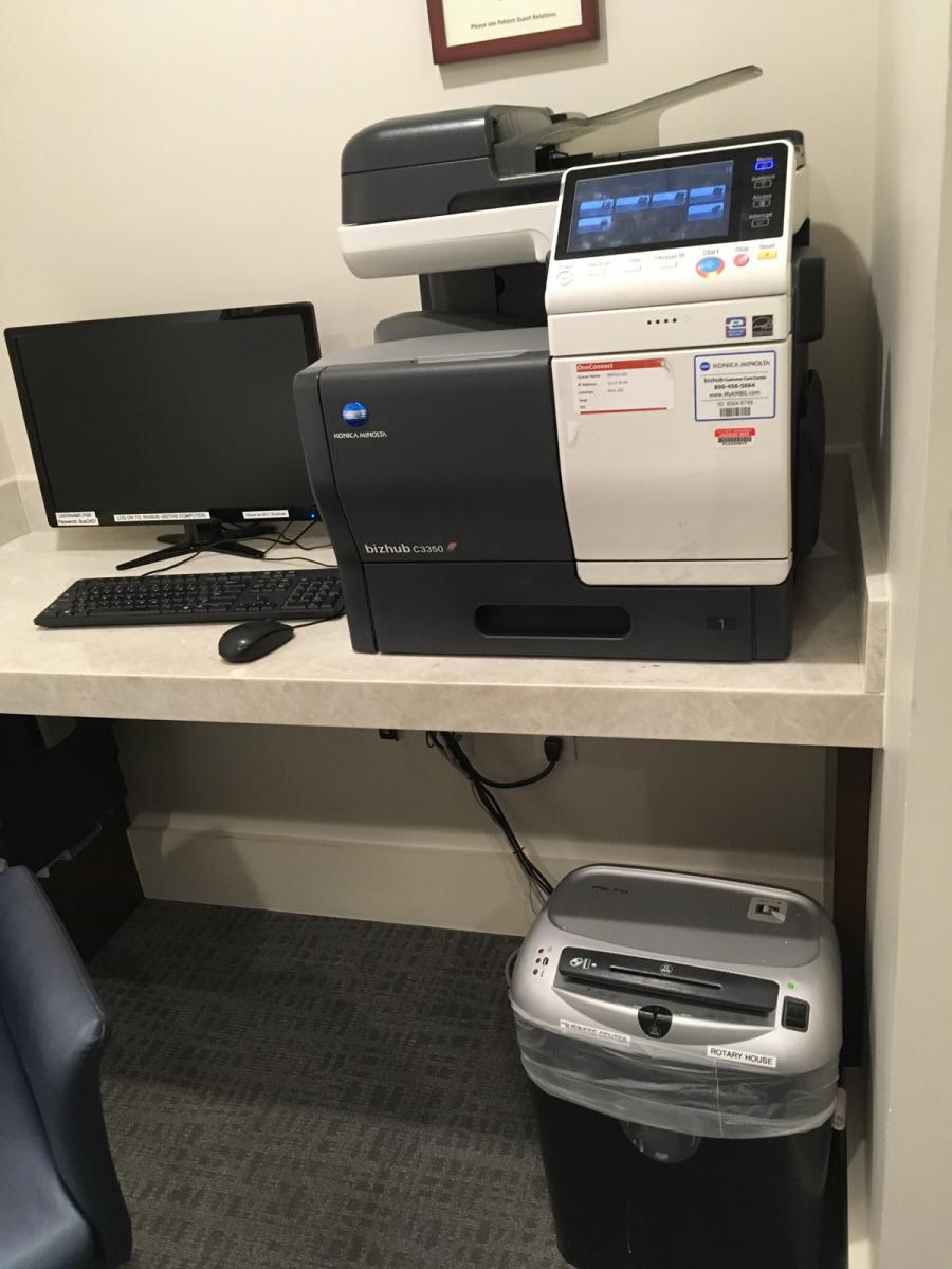 Rotary House Business Center printer