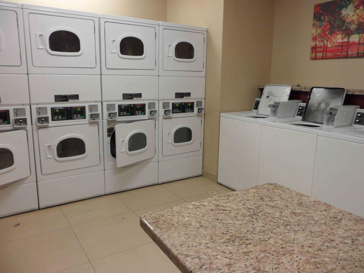 MD Anderson Rotary House Hotel laundry room